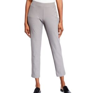 Eileen Fisher Elastic Waist Stretch Ankle Trousers